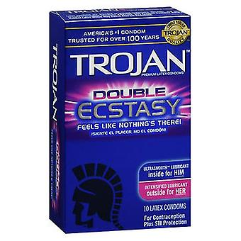 Trojan Premium Latex Kondomit Double Ecstasy, 10 kukin