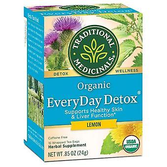 Traditional Medicinals Teas Organic EveryDay Detox Tea Lemon, 16 bags