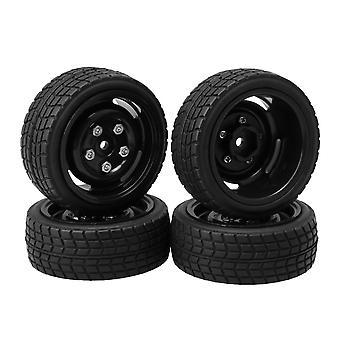 4pcs Square Lattice Shape Tires 5 Holes Rims for RC 1/10 On-Road Car