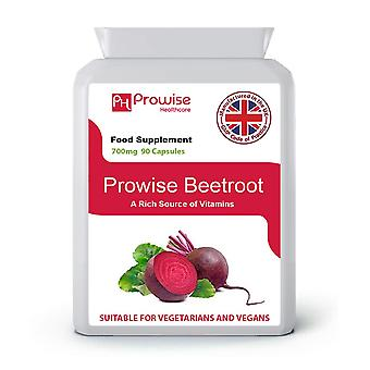 Beetroot 700mg 90 Capsules  | Suitable For Vegetarians & Vegans | Made In UK