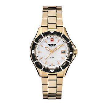 Reloj de mujer militar alpino suizo cuarzo analógico 7740.1113SAM acero inoxidable