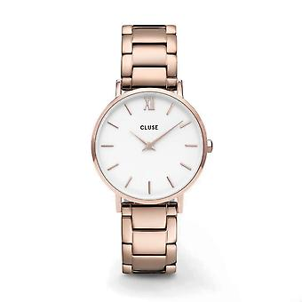 Cluse CW0101203027 Minuit Steel White Dial Rose Gold Tone Wristwatch