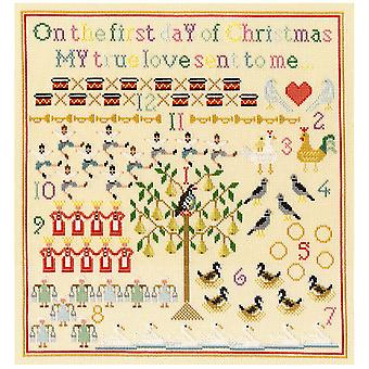 Bothy Threads Cross Stitch Kit - On The First Day