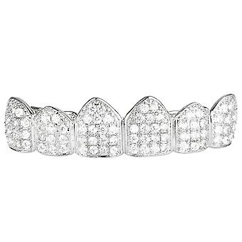 Grillz - silver - one size fits all - CUBIC ZIRCONIA top