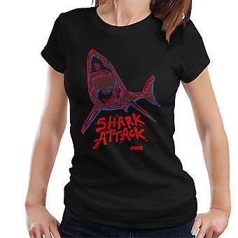 Käkar Neon Shark Attack Kvinnor's T-shirt