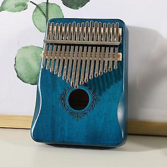 Calimba Thumb Piano, Mbira-soitin, Mahogany Body with Accessory