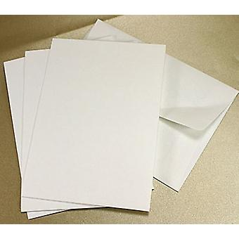 10 White Textured C6 Envelopes