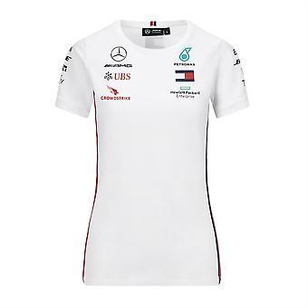 Mercedes AMG Petronas Kvinner's Replica Driver T-skjorte | Hvit | 2020