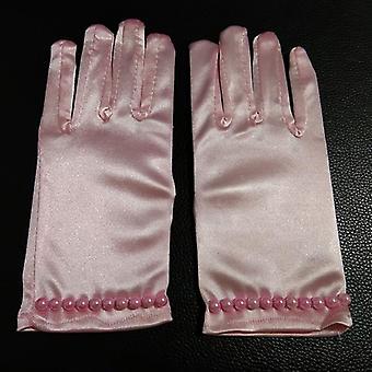 Etiquette Gloves, Pearl Short Lace Bow Halloween Christmas Princess Dance