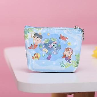 Princess Cartoon Coin Purse, Mermaid, Frozen, Handbag, Mickey Clutch, Wallet Pu