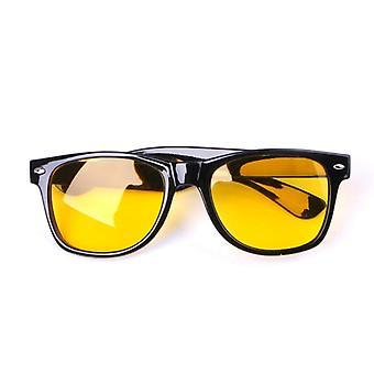 Unisex Yellow Lenses Night-vision Glasses Driving Glasses (yellow)