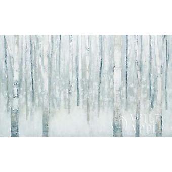 ジュリア Purinton 冬青灰色のポスター印刷の白樺