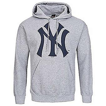 Majestic Gatton NYY New York Yankees Gre Cotton Me Pullover Hoody MNY1243E2 A21D