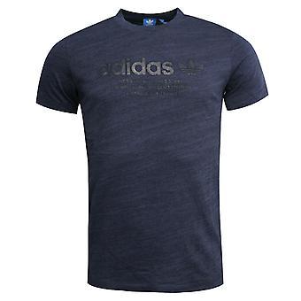 Adidas Originals Premium Trefoil Logo Erkek Tişört Üst Mavi AZ1614 R1F