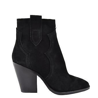 Ash Footwear Esquire Suede Heeled Boots Black