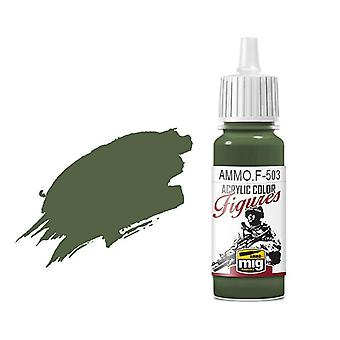 Ammo by Mig Figure Paints F-503 Dark Olive Green FS-34130