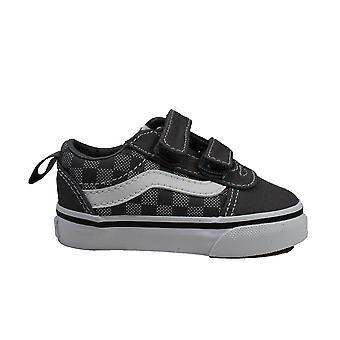 Vans TD Ward V Pewter/White Toddler Rip Tape Sneakers