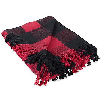 Dii Tango rot & schwarz Buffalo Check werfen Decke