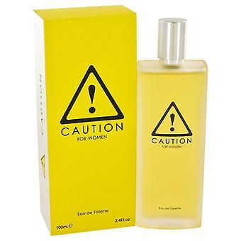 Caution by Kraft Eau De Toilette Spray 3.4 oz / 100 ml (Women)