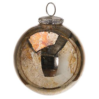 The Noel Collection Glass Burnished Christmas Bauble
