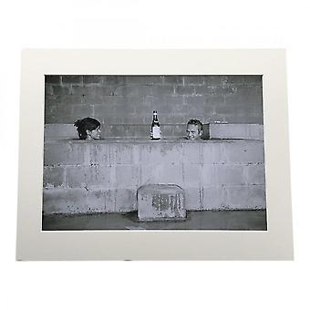 Larrini Mcqueen Champagne Bath A4 Mounted Photo