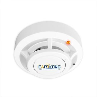 Bezdrôtový senzor detektora dymu, vysoko citlivý požiar alarmu pre Gsm / wifi, alarm