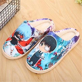 Anime Dragon Ball Tokyo Ghoul Slippers, Men Women Cosplay Cartoon Plush Shoes