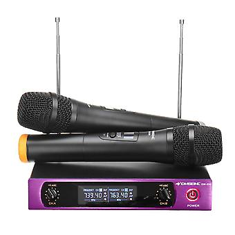 DM-100 613-870MHz UHF Wireless Cordless Microphone System Karaoke KTV Microphone
