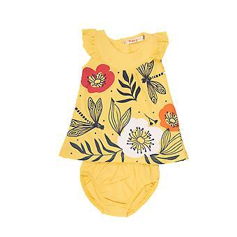 Baby bulb gul sommarklänning blommor