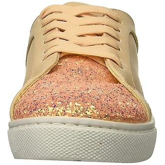 Qupid Womens Reba Fabric Low Top Lace Up Fashion Sneakers