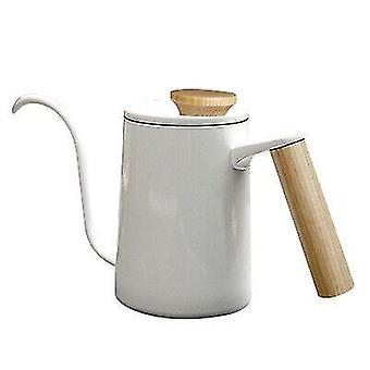 600ml أنيقة الفولاذ المقاوم للصدأ مقبض بالتنقيط وعاء القهوة، طويل Gooseneck صنبور غلاية، تصفية وعاء القهوة المياه