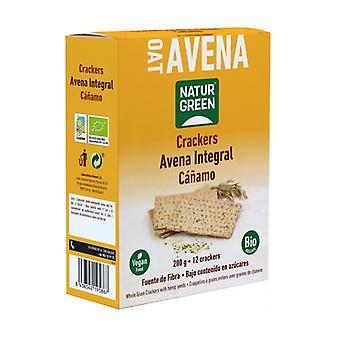 Organic Hemp Organic Oat Crackers 200 g