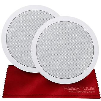 Alfatron alfc-657 loudspeaker ceiling speaker x 2 can play up to 30w with seamless design  ready to listen accessory bundle