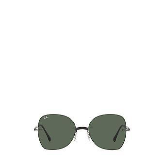 Ray-Ban RB8066 preto em lixar óculos de sol femininos gunmetal