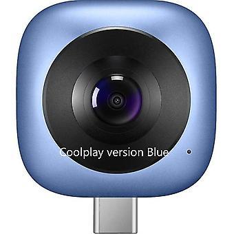 Full Hd Vr 360 Degree Fisheye Planet Sphere Panoramic Camera  (coolplay Blue)
