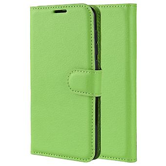 Magnetic Soft Leather Case for Alcatel 1S 2019 - Green