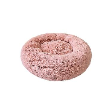 Pink  Plush Kennel Dogs Pet Litter Deep Sleep Cat Litter Sleeping Bed