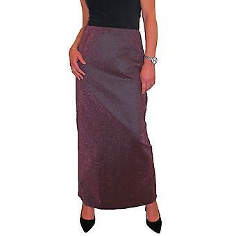Femmes's Sparkle Maxi Jupe Dames Soft Glitter Stretch Élastique Taille Long Crayon Tube Jupe 10-14
