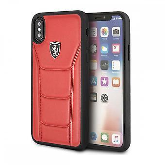 Coque Pour Iphone X / Xs En Cuir Véritable Rouge