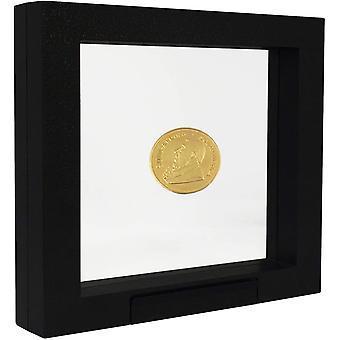 SAFE 4510 Schweberahmen schwarz 27,5x 22,5 cm - Mnzrahmen - Objektrahmen - Mnzstnder 3D Rahmen fr
