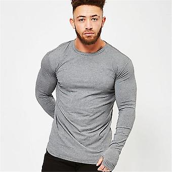 Long Sleeve- Cotton Running, Sport Gym Fitness, Skinny Tees-tops, T-shirts