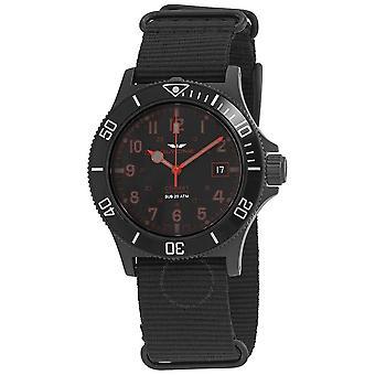 Glycine Combat Sub Automatic Black Dial Men's Nylon Watch GL0085