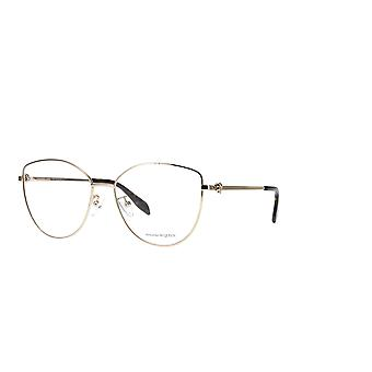 Alexander Mcqueen AM0320O 002 Gold Glasses