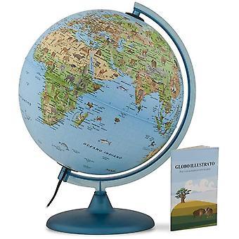 TECNODIDATTICA-Globus 0325sasaitkbbgd6-Safari mit Buch, 25cm