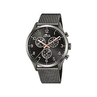 Herenhorloges Lotus Horloges L18650-B - Zwarte Stalen Armband