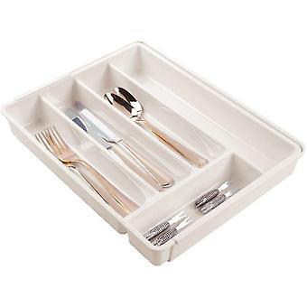 HanFei ausziehbarer Besteckkasten fr Schublade und Kchenschrank & Kchen Organizer mit sechs
