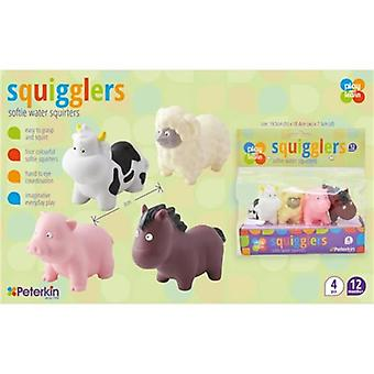 Squigglers Farm Animals Soft Water Squirters