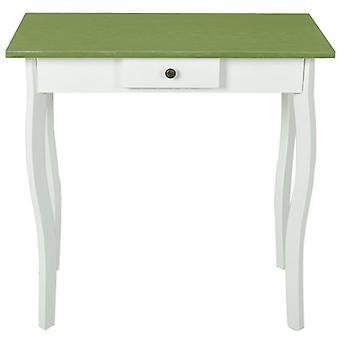 vidaXL Konsol Tabel MDF Hvid og grå Grøn