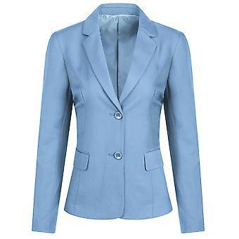 Allthemen Damen Casual Work Solid Color Blazer Formal Office Jacke
