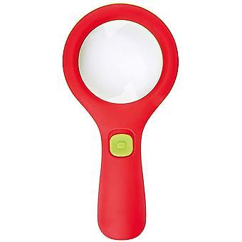 FengChun . 16124 Krabbelkfer Lichtlupe | Lupe mit Licht fr Kinder ab 3 Jahren | Mit 3 LEDs, Rot und